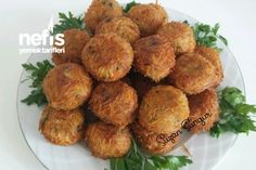 Tel ?ehriyeli Patates Toplar? Appetizer Recipes, Appetizers, Sprouts, Side Dishes, Almond, Vegetables, Breakfast, Kitchens, Finger Food