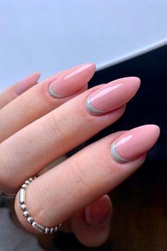 french tip almond nails, french almond nails, almond nails, round french tip nails, trendy french tip nails, almond nails short, french tip almond nails short french tip almond nails long, french tip almond nails with design, french tip almond nails color, french tip almond nails stilettos, summer nails, spring nails, nail shapes, short almond nails, #nailart#naildesigns#acrylicnails#spiringnailfrench#clevelandnails##nailhacks#nailsofinstagram#nailsoftheday#nailpolish#gelnails#gelpolish#nailsha French Nail Art, French Nail Designs, French Tip Nails, Natural Almond Nails, Short Almond Nails, One Color Nails, Nail Polish Colors, Flower Nail Designs, Nail Art Designs