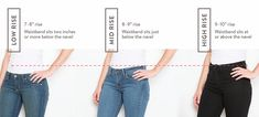 When finding your perfect-fittind jeans, the rise matters.
