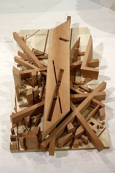 Daniel Libeskind, Potsdamer Platz Berlin, Project 1991, Realstadt Exhibition Opening