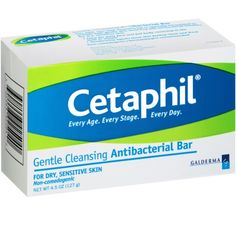 Cetaphil gentle cleansing antibacterial bar Brand New body wash in box