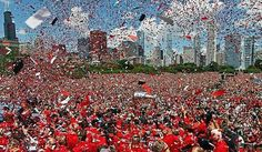 Stanley Cup/Blackhawk celebration, Grant Park, 2013.