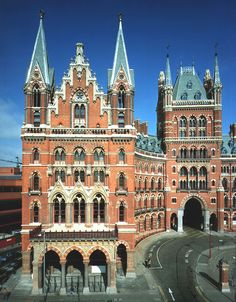 U.K. St. Pancras Station in London. It's the main terminus for high-speed rail links to Paris and the rest of Europe.
