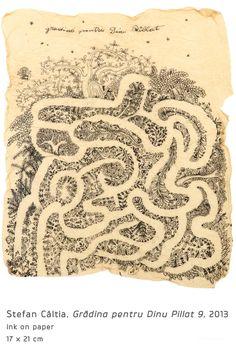 Garden for Dinu Pillat Modern Art, Vintage World Maps, Painting, Garden, Author, Garten, Painting Art, Lawn And Garden, Paintings