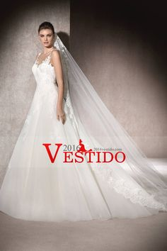 2017 abierto atractivo Volver vestidos de novia de la cucharada de una línea con apliques de organza