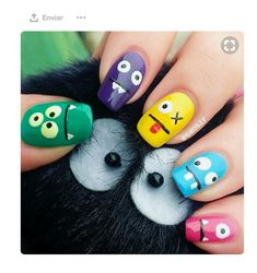 If you're looking for some cute nail art designs, you are at the right place!These 20 Simple nails are so easy to make and they are super cute as well. Cute Nail Art, 3d Nail Art, 3d Nails, Easy Nail Art, Cute Nails, Pretty Nails, Alien Nails, Nail Nail, Gold Nail