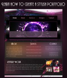 Learn how to design a stylish Portfolio Layout in Photoshop