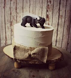 Black Bear Wedding Cake TopperBear Cake by MorganTheCreator, $40.00