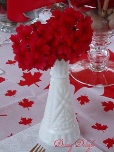 canada day party table centerpiece idea