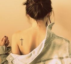 28 Small Cross Tattoos for Girls (22)