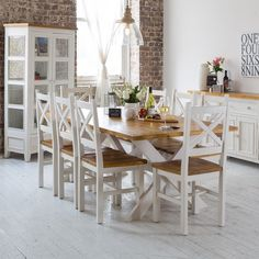 Newport 2100 Dining Package (Table: 2100W x 1050D x 770H mm; Chairs: 470W x 465D x 1020H mm) RRP $1,785