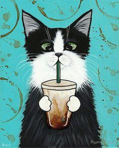 #Arte ☆ #Ilustração * Gato *
