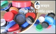 Bottle Cap Sort 6 Ways