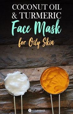 Oil and Turmeric Face Mask for Oily Skin: We can use these natural ingre., Coconut Oil and Turmeric Face Mask for Oily Skin: We can use these natural ingre., Coconut Oil and Turmeric Face Mask for Oily Skin: We can use these natural ingre. Mask For Oily Skin, Moisturizer For Oily Skin, Oily Skin Care, Skin Mask, Dry Skin, Face Scrub Homemade, Homemade Face Masks, Homemade Skin Care, Turmeric Face Mask
