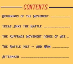 Votes for Women! - Texas State Library | TSLAC