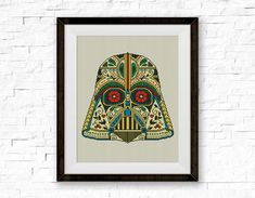 BOGO FREE Darth Vader Cross Stitch Pattern Star Wars por StitchLine