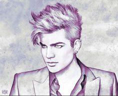 Adam Lambert art by Vincent Deporter