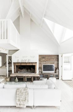 maybe too rustic, but the level of the fire place and having tv on same level looks nice