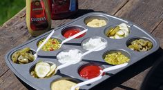 Use Your Muffin Tin For Barbeque Condiments
