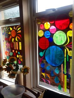 Scrap film into stained glass window effect