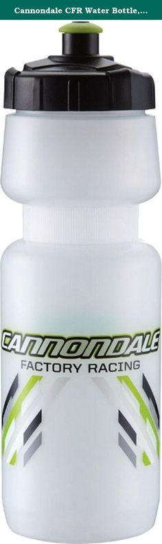 Cannondale CFR Water Bottle, Large, White. Our Cannondale water bottles are great for taking on the long haul or just a ride down to the park. Capacity is 28 Ounce.