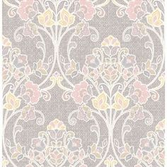 "Brewster Home Fashions Kismet Willow Nouveau 33' x 20.5"" Floral and Botanical 3D Embossed Wallpaper Color:"