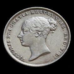 1845 Queen Victoria Young Head Silver Sixpence – Rare