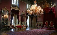 The Throne Room at Ajuda National Palace in  Ajuda, Lisbon, Portugal