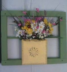 My arrangment in an old window.