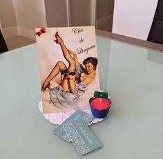 decoração chá de lingerie pin up