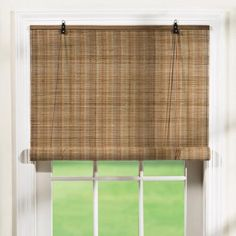 "One of my favorite discoveries at ChristmasTreeShops.com: 72"" Roll-Up Bamboo Window Shade"