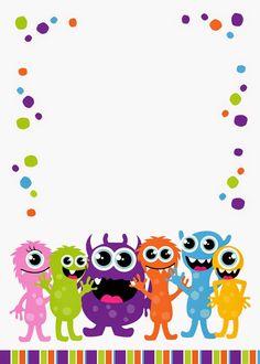 Help Festas e Personalizados: Convites Prontos - Monstrinhos