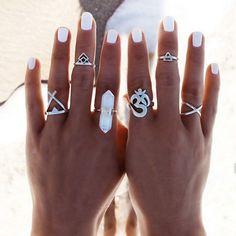 6er-Set Ring im Boho-Design -Lesara