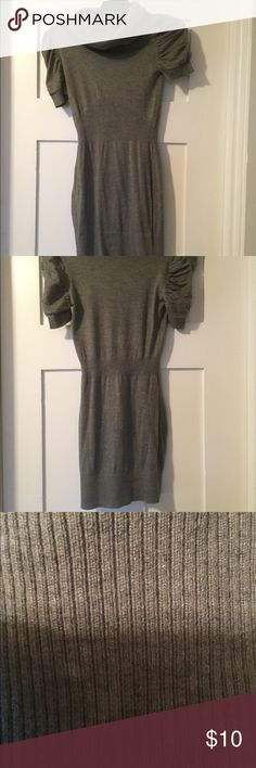 Grey Sweater Dress Short sleeve grey sweater dress worn once, has some spots on it, but I can't tell if that's irregularities from the material so posted pictures for you to see. Easy to wear to worn then for happy hour after:)🌸 Item is eligible for 1 free gift item. Please see my closet for which items are free gifts. Just add items to a bundle and I will subtract the cost of the free item.🌸 Forever 21 Dresses