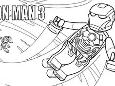 Lego Iron Man Coloring Pages