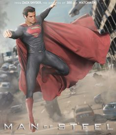 A really cool fan made movie poster for the upcoming Man of Steel