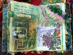 Cornish page by annrowley, by Frances Pickering Artist Journal, Art Journal Pages, Art Journaling, Journal Ideas, Textiles Sketchbook, Artist Sketchbook, Garden Journal, Nature Journal, Fabric Art