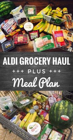 Budget Busted - ALDI to the Rescue! - Glitter On A Dime Aldi Grocery Haul and Meal Plan - Save money and stay on budget by grocery shopping at Aldi.Aldi Grocery Haul and Meal Plan - Save money and stay on budget by grocery shopping at Aldi. Meal Plan Grocery List, Aldi Meal Plan, Grocery Haul, Grocery Lists, Grocery Store, Grocery List Healthy, Cheap Grocery List, 5 Day Meal Plan, Snacks For Work