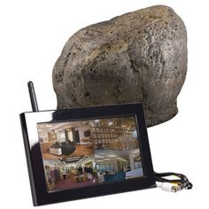 Capture crystal clear footage with this unassuming landscape stone. The QUAD LCD receiver allows you to connect up to 4 cameras at once. Utilize the included LCD screen for easy camera set up and f