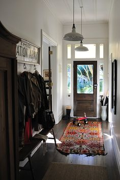 transom above the front door and interesting ceiling Living With Kids: Looking Back - Design Mom