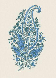 Paisley Motif Blue Indian Wedding Invitations by InvitationShop Motif Paisley, Paisley Art, Paisley Design, Paisley Pattern, Pattern Art, Pattern Design, Indian Patterns, Textile Patterns, Textile Prints