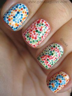 Color blind test, nail art