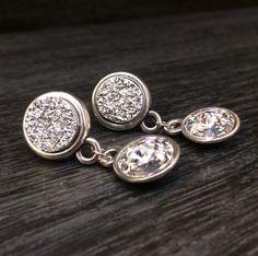 Pendientes de cristal Pendientes Druzy por KuentaAlKuadrado