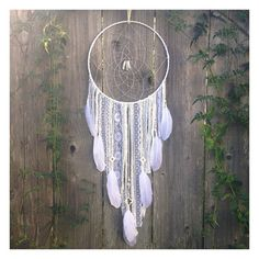 Large White Dreamcatcher, Handmade Crystal Dream Catcher, Boho Decor