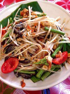 Papaya Thai salad . ( Somtum Malako ) @ Somtum Khun B  photo by Parin Thuanthanom.