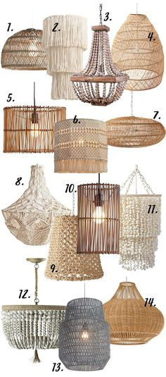 Modern Boho chandeliers and pendant lights come in a range of shapes, styles and sizes. True to the Bohemian genre, Boho lighting also embraces a mixture of interior design styles, including (but not limited to) Coastal and Scandinavian. Macrame...