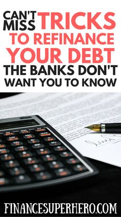 Chances are good your bank doesn't want you to refinance your debt at today's great interest rates because they'll lose money. You can save money - potentially thousands of dollars - if you refinance student loans or refinance your mortgage the right way. You could even refinance personal loans or refinance credit card debt! We'll show you how.