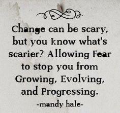 Don't let FEAR stop your growth!  Concur it~