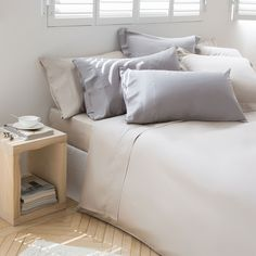 SATIJNEN LAKENS EN SLOPEN EFFEN BEIGE - Lakens en Hoezen - Bed | Zara Home Holland