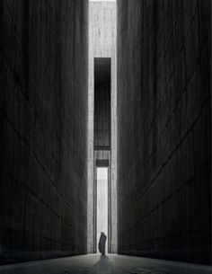 Sacred Architecture, Landscape Architecture, Architecture Design, Space Interiors, Dark Interiors, Section Drawing Architecture, Felix Candela, Dark Landscape, Collage Techniques
